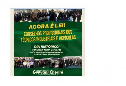 Vencemos a maior das batalhas como profissionais Técnicos Industriais e Agrícolas. Agora é Lei . Agora é realidade !!